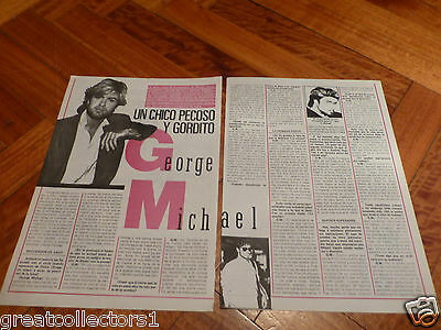 GEORGE MICHAEL REL WHAM! CLIPPING PAGE - RARE fromSOUTHAMERIKA #1