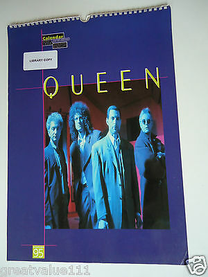 Queen Vintage Calendar 1995 Original 21 Year Old Rare Valuable Rock Collectible