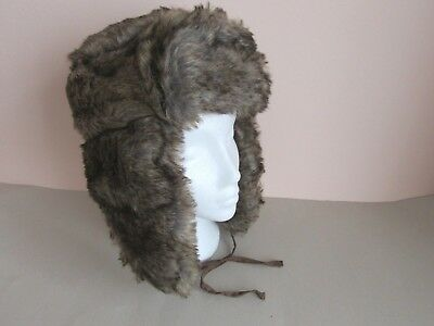 Boys Mens Russian Fake Fur Trapper Hat Asstorted sizes