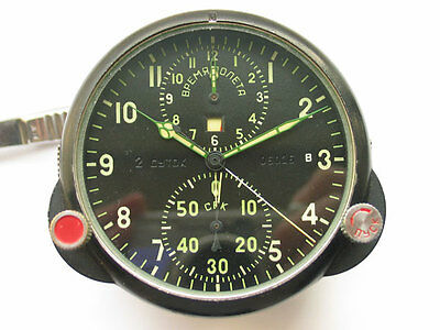 Rare soviet AChS-1 Military Flight Clock Chronograph Aviation