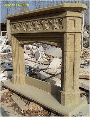 Customize Own Solid Marble Sandstone  Fireplace Mantel Surround @pls Ask Price@