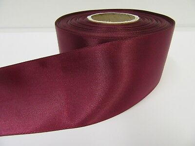 3mm 7mm 10mm 15mm 25mm 38mm 50mm BURGUNDY WINE CLARET Satin Ribbon Double Bows