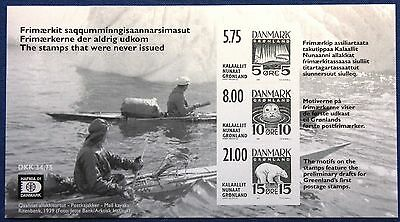 Greenland Blackprint 2001 Stamps that were never issued Hafnia 01 - C. Z. Slania