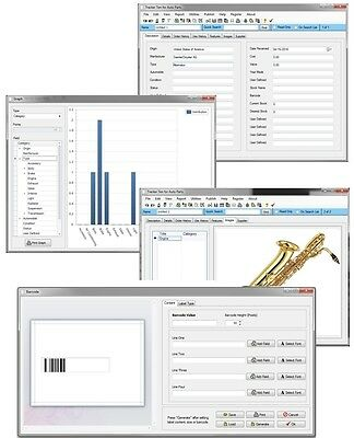 Trumpet Saxophone ++ Musical Instrument Inventory Loan Service Tracking Software