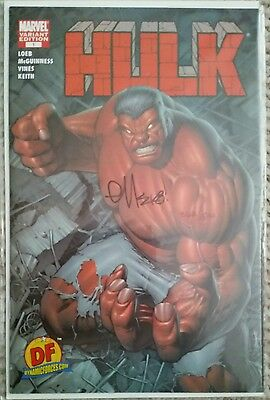 Hulk #1 Dynamic Forces variant Signed ED MCGUINNESS COA Sealed NM 1st app Red