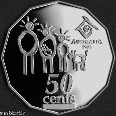 **1994  Australian Year of the Family 50 cent  Proof  **