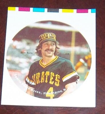 Dale Berra Pittsburgh Pirates 1978 player photo Baseball