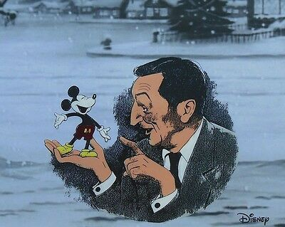 WALT Disney & Mickey Mouse Hand Painted Animation Art Cel