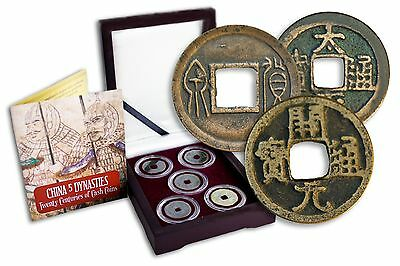 CHINA 5 DYNASTY ALBUM -2,000 Years of Chinese Bronze Coins in Display Box w/ COA