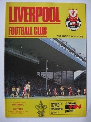 Liverpool v Watford 1985/86 FA Cup Programme