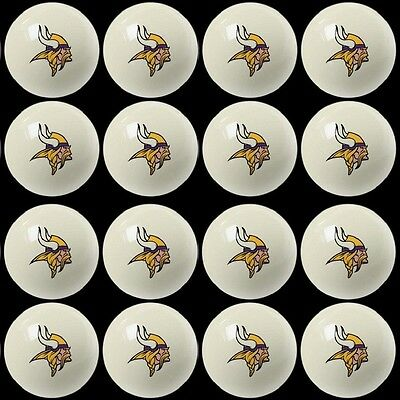 16 Pool NFL Minnesota Vikings Billiard Cue Balls