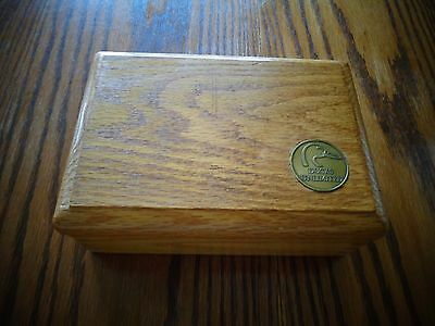Ducks Unlimited wooden box handcrafted by Don Kleinschmidt Harpers Ferry IA