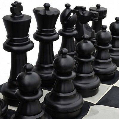 Giant 60cm Plastic Chess, Checkers, Mat and Mat Package