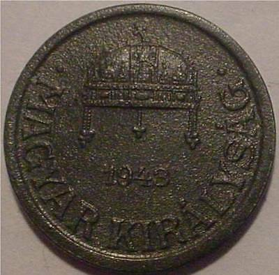 1943 2 Filler German/hungarian Alliance Wwii**nice  Detailed Coin