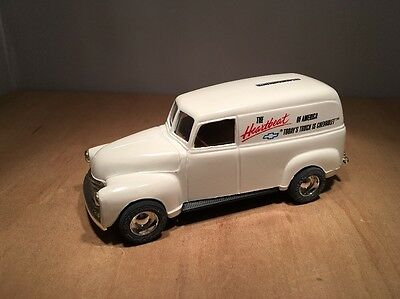 1950 CHEVROLET PANEL TRUCK DIE CAST COIN BANK by ERTL #9873 1:25 SCALE