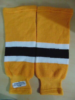 Hockey Socks Childrens Size 20 inch NEW Yellow White Ages 4-7