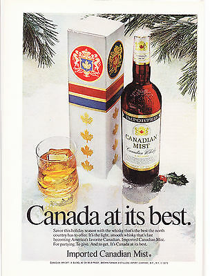 Original Print Ad-1974 CANADIAN MIST-To Give. And To Get It's Canada At Its Best