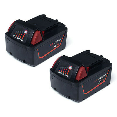 2 Pack Battery For Milwaukee M18 Replacement 18V XC 4.0Ah Power Tool 48-11-1840
