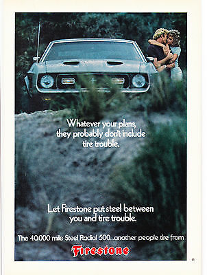 Original Print Ad-1973 Let FIRESTONE put STEEL between you and TIRE trouble.