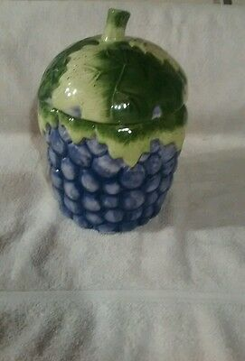 Grape cluster small cookie jar