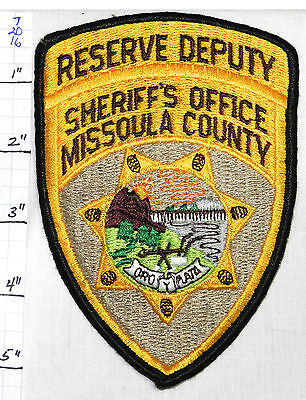 Montana, Missoula County Sheriff's Reserve Deputy Patch