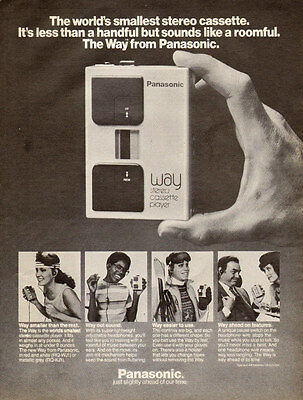 1983 vintage AD PANASONIC ' The Way ' Stereo Cassette Player 112115