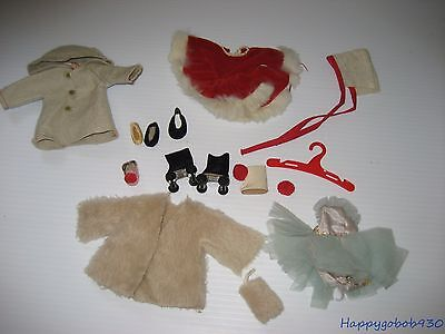 """Vintage Ginger 1950's Doll Clothes Lot 8"""" Size Ginny, Muffie, Alexander Kins"""