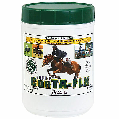 CORTA-FLX Pellets w/Hyaluronic Acid Joint HORSE Supplement  2.5 lb -40 days NEW!