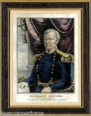 1848 Zachary Taylor PEOPLE'S CANDIDATE Currier Campaign Print