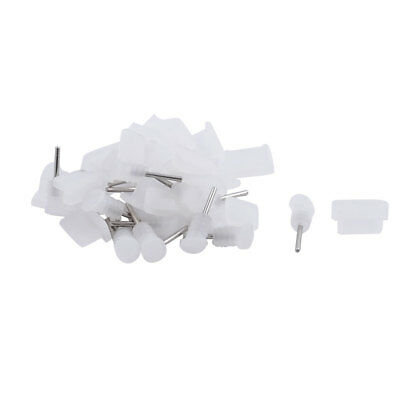 Phone Silicone USB Dock Anti Dust Stopper Cap Clear 20 Set for iPhone 6 6s