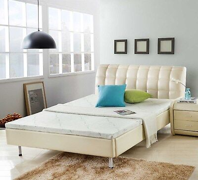 Natural LATEX Mattress Topper – BAMBOO Fabric Cover – QUEEN Size