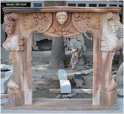 Customize UNIQUE mantel surround IN THIS WORLD with your or wife's HEAD, Marble
