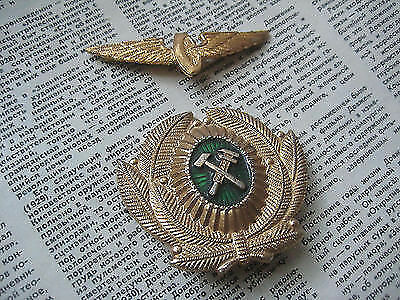 - 2 Soviet ( Russian, USSR ) Railway Cap BADGES 1970's