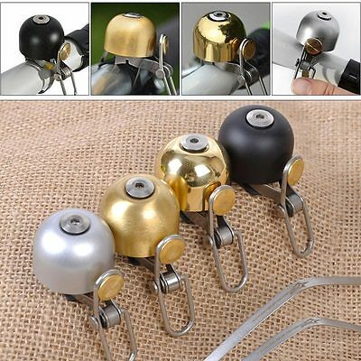 Outdoor Stainless Steel Bike Bicycle Cycling Handlebar Bell Sound Ring Horns New