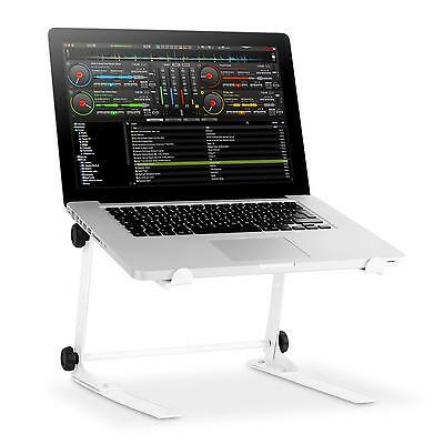 PRO LAPTOP STAND RESIDENT DJ 1Lap SUPPORT REGLABLE ORDINATEUR PORTABLE PC BLANC