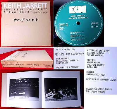 10LP Box Keith Jarrett: Sun Bear Concerts Recorded in Japan (ECM 1100) D 1978