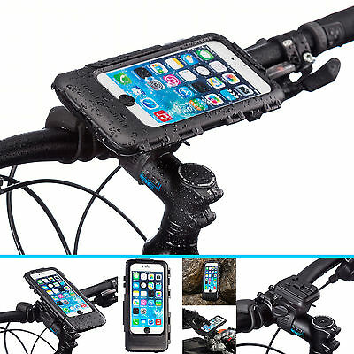 Bicycle Handlebar Helix Bike Strap Mount + Case for iPhone 6 Plus 6s Plus 5.5""