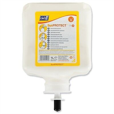 Deb SUN1L Sun Protect Outdoor Work Sun Protection Cream 1 Litre Cartridge - BX 7