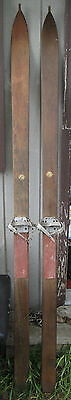 Vintage circa 1930s Dartmouth Cooperative Society Hanover NH wood downhill skis