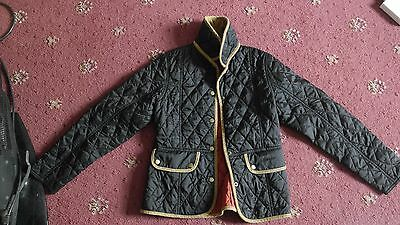 Kids Girls Quilted Barbour Coat Size L (10-11) 100% Genuine Very Good Condition