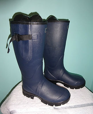 New Mens Wellington Boots Neoprene Lined Quality Boots Size 12 Wide Calf