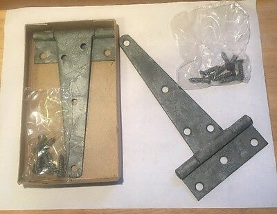 "6"" Steel Tee Hinges Set Of 2 New Old Stock Zinc Plated KZ 5340-291-8236"