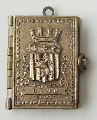 Rare Old Locket French Miniature Book