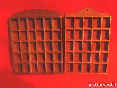 2 Thimble Racks. Wooded . One Holds 25 & One 30 Thimbles. Total 55 Thimbles