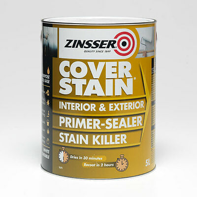 Zinsser CoverStain Primer & Stain Sealer White - FREE EXPRESS DELIVERY