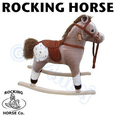 NEW Children Childs Light Brown Rocking Horse With Sound Small Medium Large