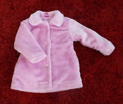 top quality expensive 3/4yrs pink faux fur coat with 2 side pkts & button front