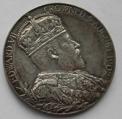 Edward VII Official Coronation Medal 1902 30mm Silver