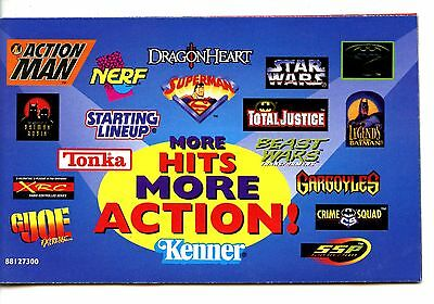 Kenner Action Figures Advertising 1996 Booklet-Collectible Toys Vintage Catalog