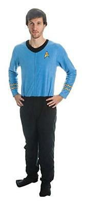 Mens Licensed Star Trek Union Suit Pajamas Costume Footed New Blue S,M,L or XL